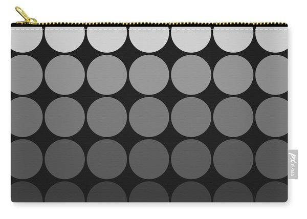 Mod Pop Gradient Circles Black And White Carry-all Pouch