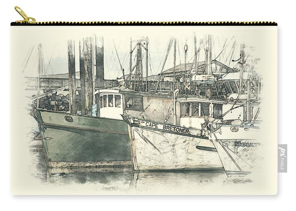 Moored Fishing Boats Carry-all Pouch