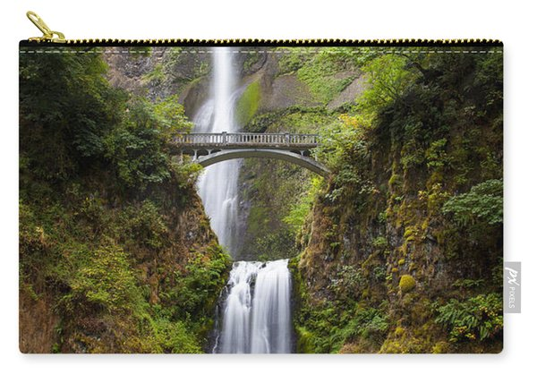 Carry-all Pouch featuring the photograph Multnomah Falls by Brian Jannsen