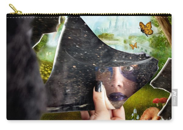 Mysterious Jester Found Wonderland In A Reflection Carry-all Pouch