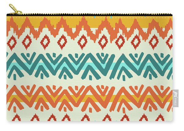 Navajo Mission Round Carry-all Pouch
