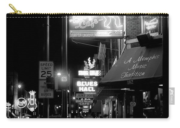 Neon Sign Lit Up At Night In A City Carry-all Pouch