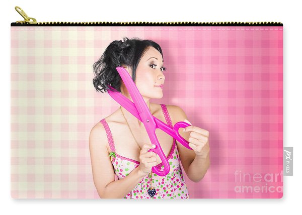 New Haircut At Beauty Salon Carry-all Pouch