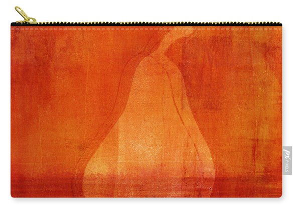 Orange Pear Monoprint Carry-all Pouch