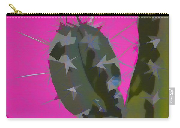 Pink And Green Cactus Collage Carry-all Pouch