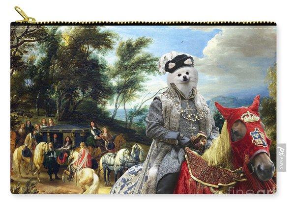 Pomeranian Art Canvas Print  Carry-all Pouch