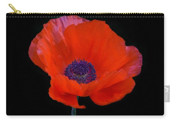 Carry-all Pouch featuring the photograph Poppy  by Garvin Hunter