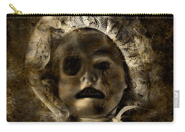 Porcelain Doll Crying Tears Of Cracks Carry-all Pouch