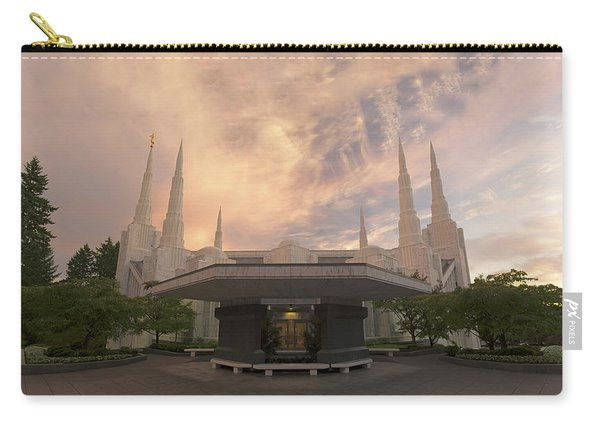 Carry-all Pouch featuring the photograph Portland Temple by Dustin  LeFevre
