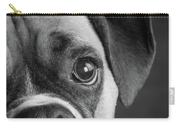 Portrait Of A Boxer Dog Carry-all Pouch