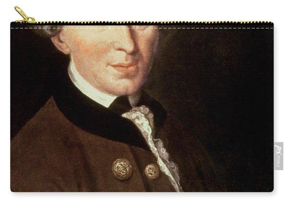 Portrait Of Emmanuel Kant Carry-all Pouch