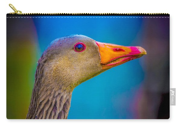 Portrait Of Greylag Goose, Iceland Carry-all Pouch
