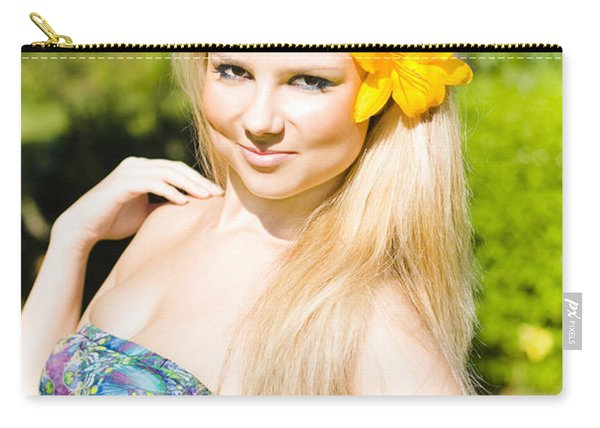 Provocative Tropical Beauty Carry-all Pouch