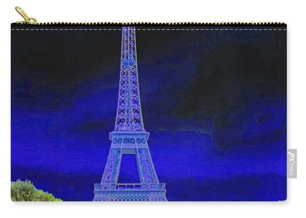 Purple Eiffel Carry-all Pouch