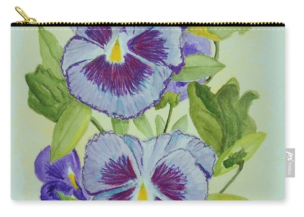 Purple Pansies IIi Carry-all Pouch