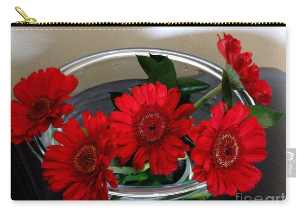 Red Flowers. Special Carry-all Pouch