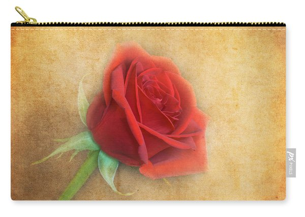 Carry-all Pouch featuring the photograph Red Rose  by Garvin Hunter
