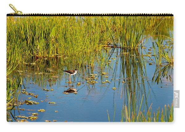 Reflection Of A Bird On Water, Boynton Carry-all Pouch