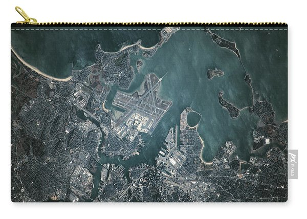 Satellite View Of Boston Carry-all Pouch