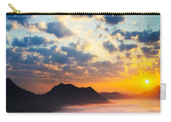 Sea Of Clouds On Sunrise With Ray Lighting Carry-all Pouch