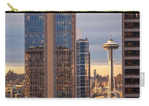 Seattle Space Needle Golden Sunset Light Carry-all Pouch