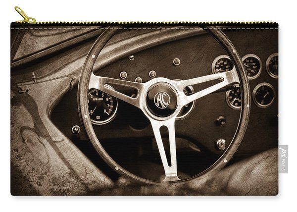 Shelby Ac Cobra Steering Wheel Emblem Carry-all Pouch