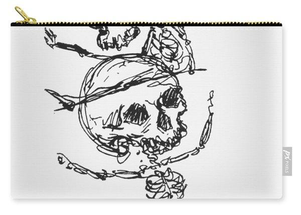 Skeletons, Illustration From Complainte De Loubli Et Des Morts Carry-all Pouch