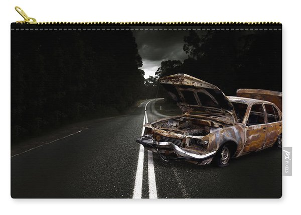 Smashed Up Car Wreck Carry-all Pouch