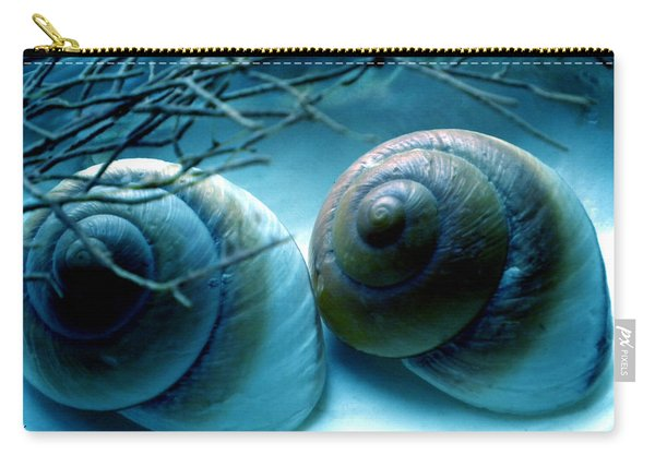 Carry-all Pouch featuring the photograph Snail Joy  by Colette V Hera  Guggenheim