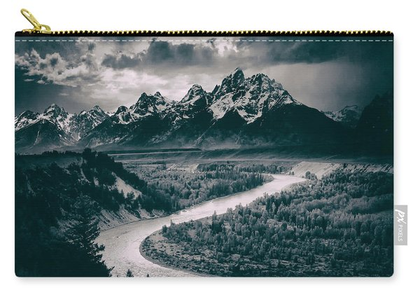 Snake River In The Tetons - 1930s Carry-all Pouch