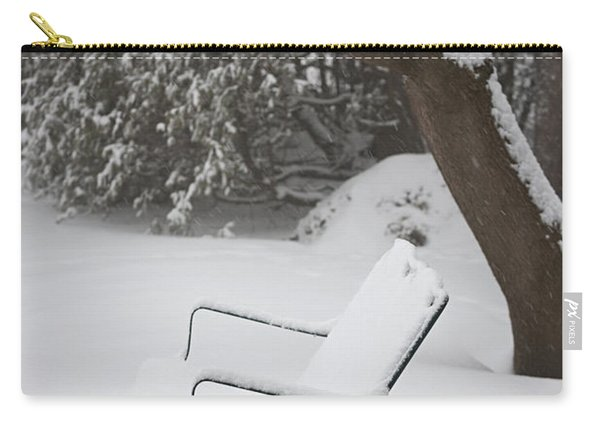 Snow Covered Bench Carry-all Pouch