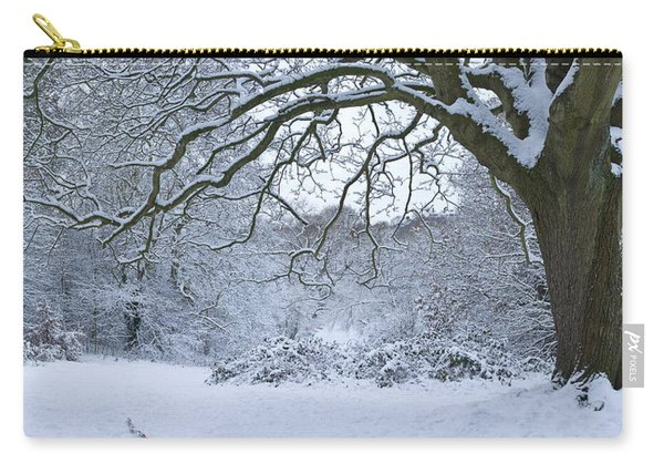 Snow Covered Trees In A Park, Hampstead Carry-all Pouch
