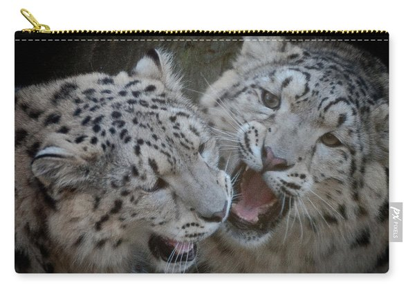 Snow Leopard Cubs Carry-all Pouch