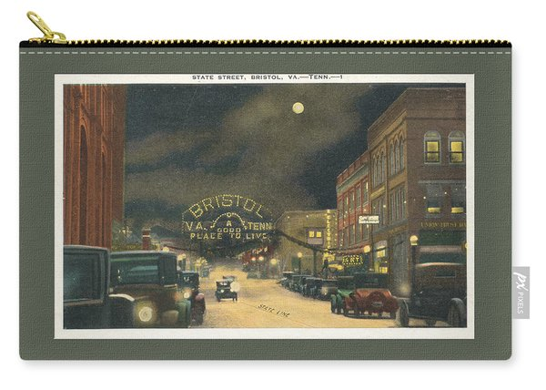State Street Bristol Va Tn 1920's - 30's Carry-all Pouch
