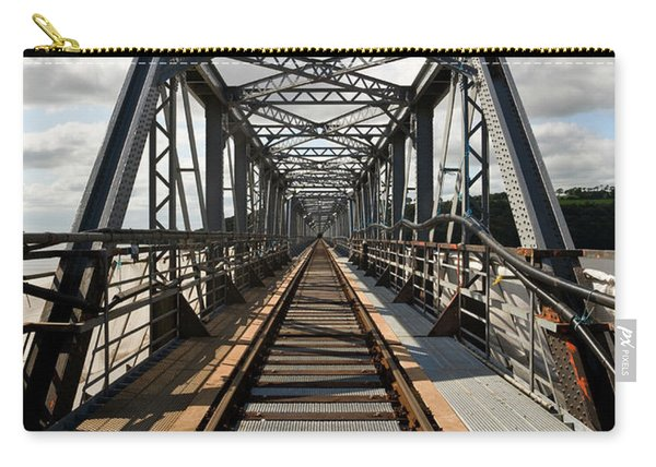 Steel Railway Bridge Over The River Carry-all Pouch