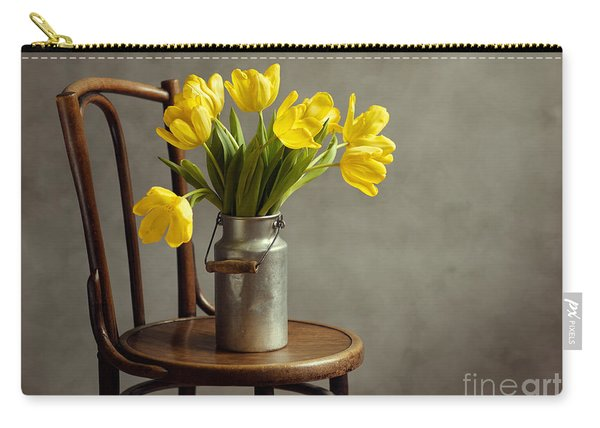 Still Life With Yellow Tulips Carry-all Pouch