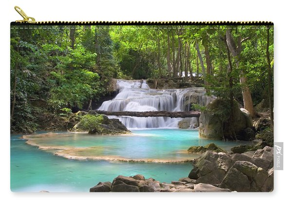 Stream With Waterfall In Tropical Forest Carry-all Pouch