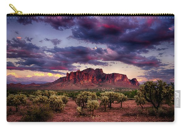 Sunset At The Superstitions  Carry-all Pouch