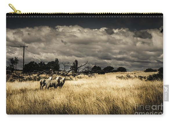 Tasmania Landscape Of An Outback Cattle Station Carry-all Pouch