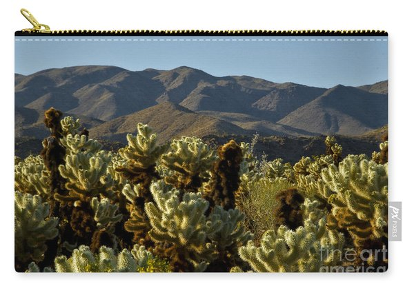 Teddy Bear & Jumping Cholla Carry-all Pouch
