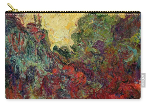 The Artists House From The Rose Garden, 1922-24 Oil On Canvas Carry-all Pouch