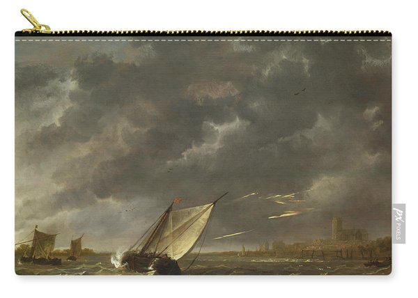 The Maas At Dordrecht In A Storm Carry-all Pouch