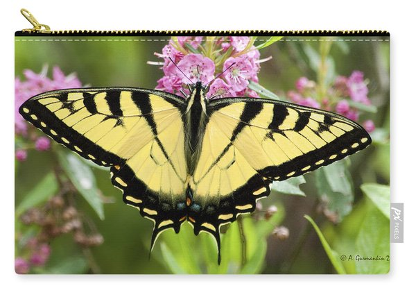 Tiger Swallowtail Butterfly On Milkweed Flowers Carry-all Pouch
