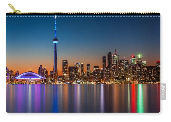Toronto Skyline At Dusk Carry-all Pouch