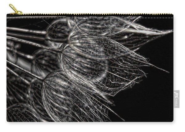 Silver Flowers Carry-all Pouch