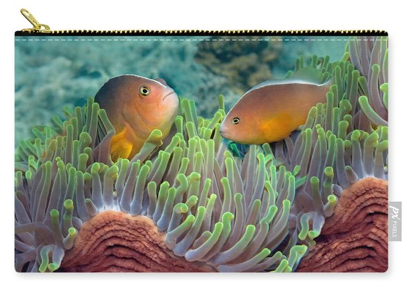 Two Skunk Anemone Fish And Indian Bulb Carry-all Pouch