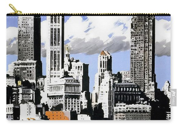 Vintage New York Travel Poster Carry-all Pouch