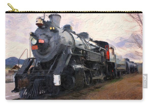 Vintage Railroad Steam Train Carry-all Pouch