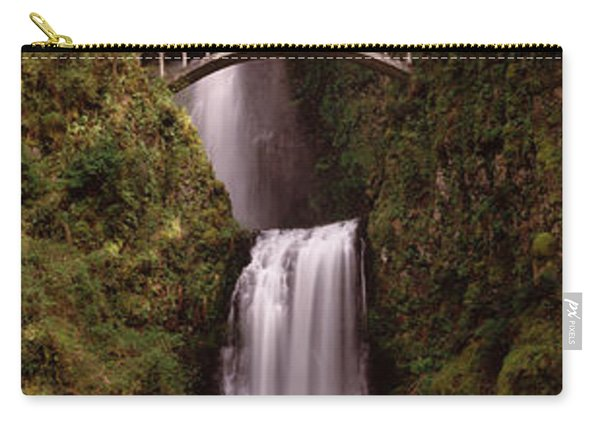 Waterfall In A Forest, Multnomah Falls Carry-all Pouch