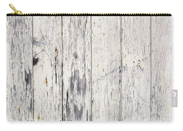 Weathered Paint On Wood Carry-all Pouch